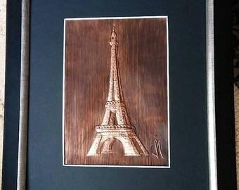 La tour Eiffel Tower Eiffelturm Paris La France Cuivre Copper Française