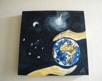 EARTH in a painting