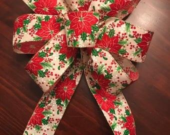 Poinsettia Christmas Bow