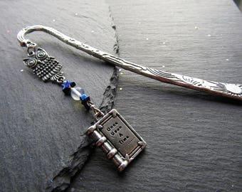 Fairy Tale Owl Bookmark, Owl bookmark, Fairy Tale Bookmark, Fantasy Bookmark, Once Upon a Time Bookmark, Gift for Fantasy Book Lover,