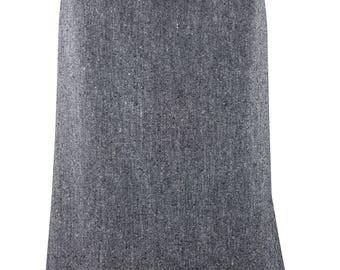 HARDY AMIES Vintage Grey Wool A Line Skirt (10)