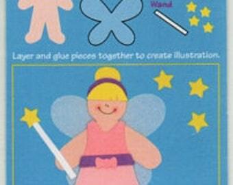 Fiona Fairy Mini Paperkins Die Cut Paper Dolls Ek Success Scrapbook Embellishments Cardmaking Crafts Paper Piecing