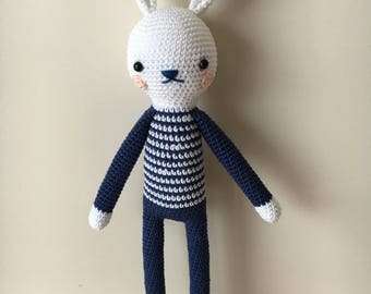Easter gift ideas etsy long legs crochet bunny soft toy by polina kuts pattern amigurumi bunny rabbit toy for negle Images