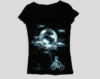 Moon shirt, Black shirt, Black moon, Black moon shirt, Full moon, Moon tshirt, Black tshirt, Black moon t shirt, Custom tshirt, Custom shirt