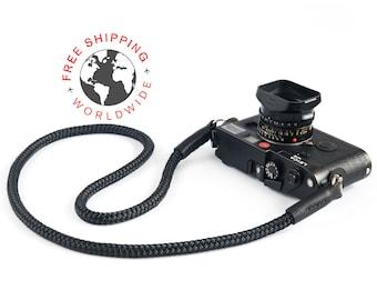 Rope camera strap ((SLIM) Black)
