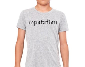Taylor Swift, Kids T-shirt, Reputation Shirt, Girls Xmas Gift, Taylor Swift Gift, Taylor Swift Fan, Fan Gift, Girl Birthday Gift