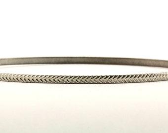 Vintage Braiding Design Bangle Bracelet 925 Sterling Silver BR 2396
