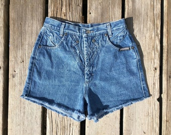 "Vintage Sz 25"" Extra High Waisted Vintage Roughrider Cutoffs"