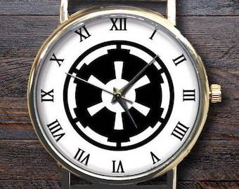 Star Wars Empire Logo Gear Watch, Custom Engraved watchband, Sith Empire,  Neutral Watch, Lovers Watch, Gift Idea.