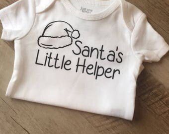 Santa's Little Helper Baby Bodysuit - Baby Christmas outfit - Christmas Baby Clothing -Baby's 1st Christmas -Santa's Little Helper Christmas