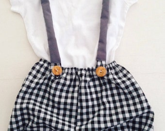 The 'Tommy set' in black and white checks