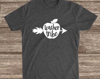 Teacher Tribe Dark Heather Grey T-shirt - Matching Teacher Shirts - Grade Level Shirts