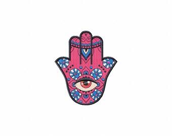 Hamsa Peace #03 Machine Embroidery Design - Seven Sizes: 2.5 to 5.5 inch - Instant Download!