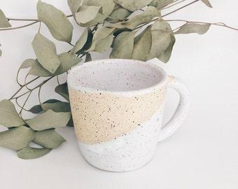 White ceramic mug, ceramic cup, handmade mug, handmade pottery mug