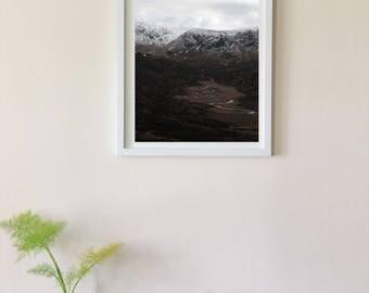 Photography art print - landscape. Cairngorms, Scotland