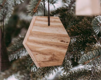 Geometric Ornaments, Modern Ornaments, Minimal Ornaments, Christmas Ornaments, Wood Ornaments