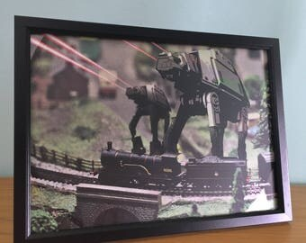 Star Wars Miniature Village Attack Print (A4)