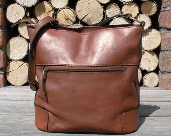 womens leather bag, leather bag, messenger leather bag, womens shoulder bag, leather messenger bag, women's bag, brown crossbody bag