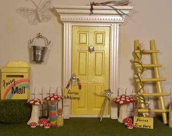 Fairy Door Complete Package with Accessories !! Fairy Door for Kids! Buy Full Set and SAVE!!!