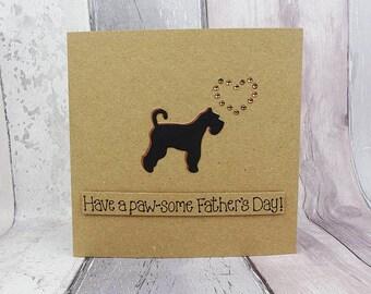 Schnauzer Father's Day card, Schnauzer birthday card, Handmade card, Giant Schnauzer card, Standard Schnauzer dog card, Miniature Schnauzer