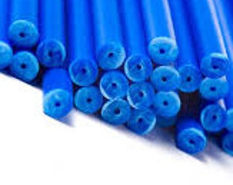 50 - Blue Lollipop Sticks 4 inch Cake Pop Sticks Cookie Sticks Baking and Chocolate Sticks Lollipop Sticks Baking Supplies Candy Supplies