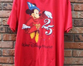 Vintage Mickey Mouse Walt Disney World T-Shirt Men's XL