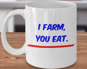 Mug for Farmers, Farming Gift Mug, Farmer Drinking Cup, Farm Kitchen Decor, Farming Coffee Mug, Farmer Gifts, Gift for a Farmer, Farm Mugs