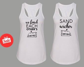We Finish Each Others Sandwiches Tank Top. Frozen, Disney shirts. Matching shirts. Bff Shirts. Couple Shirts. [E0675,E0795][E0674,E0672]