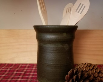 Slate green utensil holder