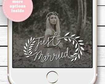 Wedding Snapchat Filter - Snapchat Geofilter Wedding - Custom Snapchat Filter - Gift for Couple - Gift for Bride - Just Married -  Gold Foil