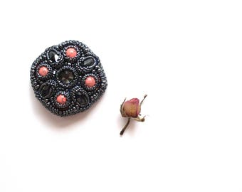 beaded brooch, bead brooch, brooch  pin,brooch embroidered, gift for her, seed bead brooch, bead pin,handmade beaded brooch, gift brooch