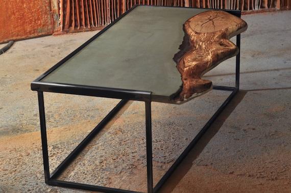 m bel stahl beton holz epoxidharz vintage tisch. Black Bedroom Furniture Sets. Home Design Ideas