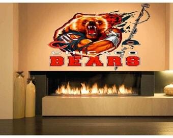 Painteeze Chicago Bears Football Painting Like Modern Wall Decor, Sticker  Cfb 47 Part 93