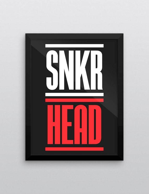 SNKR HEAD | Wall Art | Poster