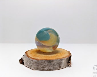 Handmade Glass Hider Marble,Glass Marble, Glass Orb, Boro Marble, Large Marble, Collectible Marble, Handmade Glass Marble, Vortex Marble