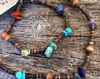 Chakra & Coconut Bracelet / Necklace