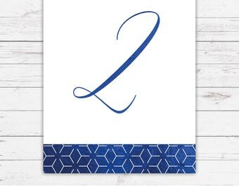 Foil wedding table numbers