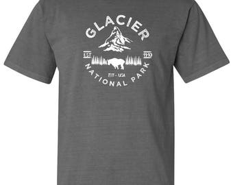 Glacier National Park Adventure Comfort Colors TShirt