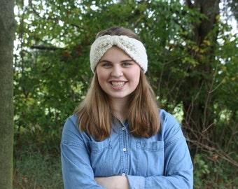 CROCHET PATTERN / Chunky crochet headwrap / cinched headband / turban style / diy crochet pattern / pdf pattern / the CELINA headwrap