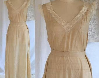 Vintage 1920's Golden Silk Nightgown