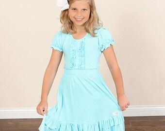 easter dress girls-girls blue dress-girls clothing-girls summer outfit-baby ruffle dress-girls Easter dress-girls dress-Simple Chic