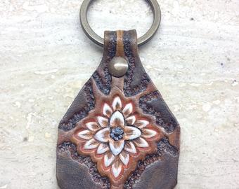 Leather handmade keyholder