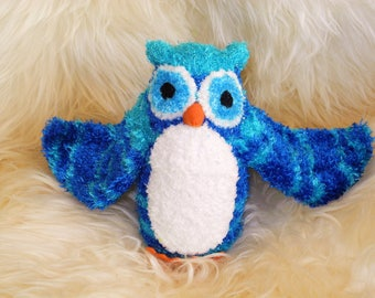 owl, Stuffed Animal Hand Stitched Sock Critter stuffy, cuddly, lovie, lovy, hoot harry potter wise graduation barn snowy