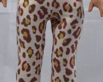 18 Inch Doll Leopard Print Leggings Made to fit Dolls Like the American Girl Doll Clothes, AG Leggings