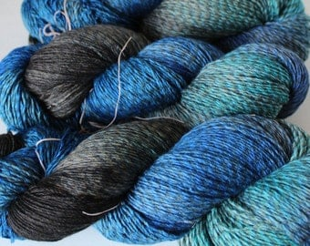 Hand Dyed Yarn Merino Wool 4ply 100g Motion of the Ocean