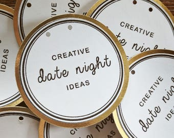 Creative Date Night Ideas Bridal Wedding Shower Game Idea 6 pack