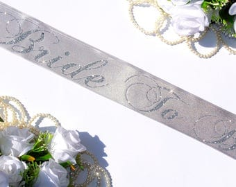 Bridal Party Sash Bachelorette Gift Wedding  Personalized Bridal Shower, Bride, Wedding Gift, Bachelorette, Bride To Be, Maid of Honor,