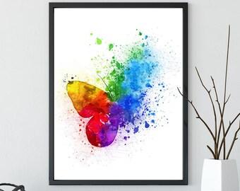 Watercolor Butterfly,Nursery Printable, Nursery art , Nursery wall art, Nursery decor, Digital download, Butterfly nursery, girl room