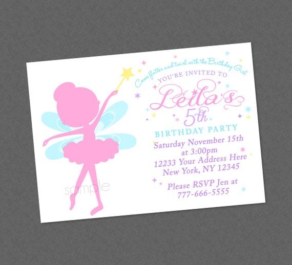 Sweet pastel fairy silhouette birthday invitation fairy birthday il570xn filmwisefo