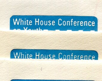 White House Conference On Youth Embossed Envelopes Issued In 1971 Unused